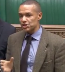 Labour MP Clive Lewis debating the Bill in the Commons