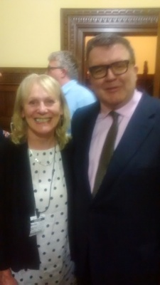 Sheila with Tom Watson MP