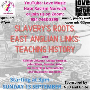 Stand Up To Racism East Anglia Events Poster