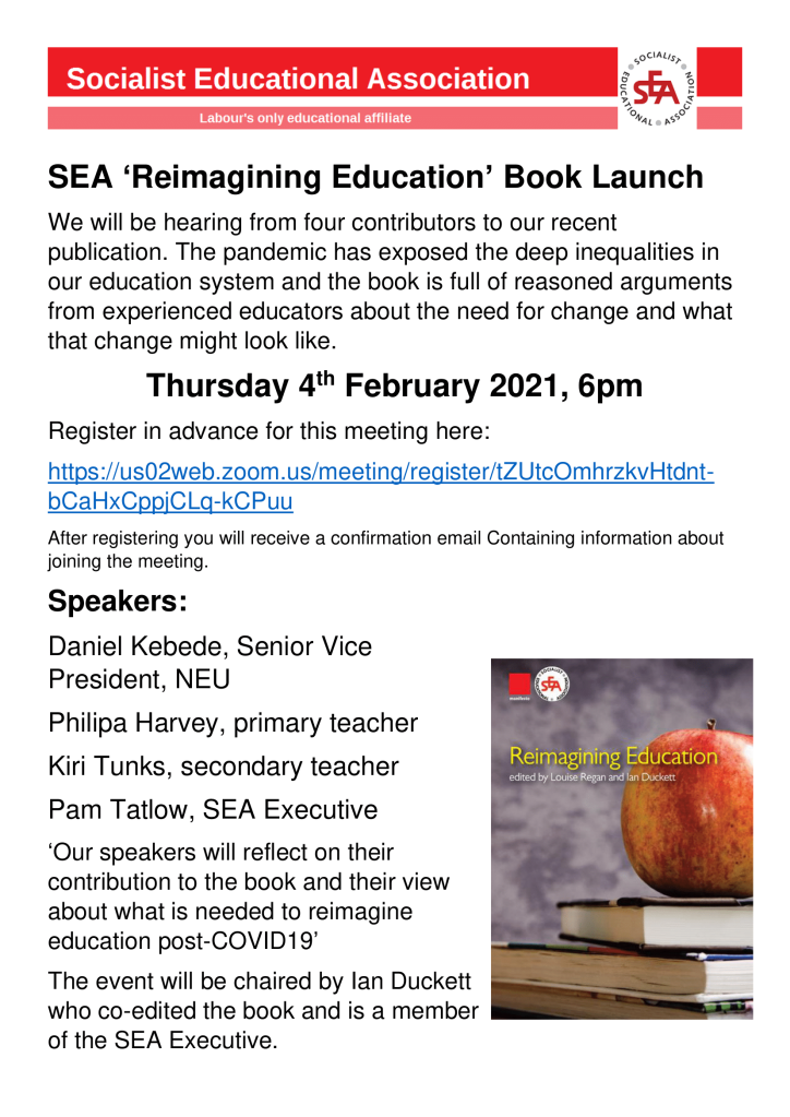 SEA book launch flyer