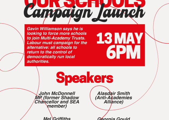 Give Us Back Our Schools Campaign Launch poster publicity